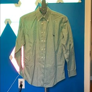 Brooks Brothers Button Down Non Iron Green Check